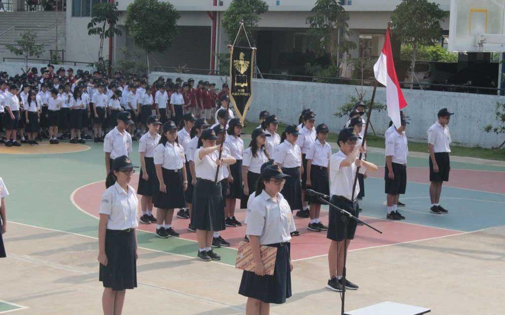 Pelantikan OSIS, Karangturi Hijau dan Patriot Muda SMP Karangturi 2018